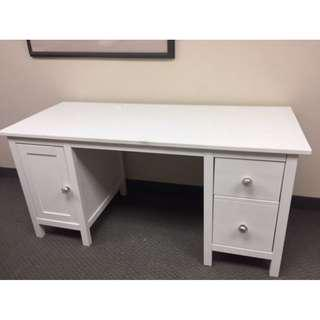 WHITE WOODEN IKEA DESK