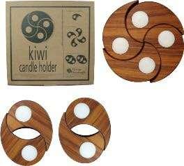 Kiwi candle holder