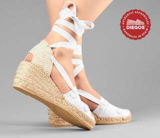 Price Drop! White Espadrilles Size 6
