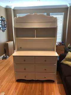White desk and drawer set