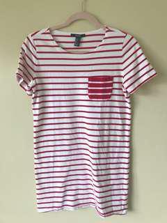 Forever21 striped shirt dress