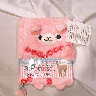 Cute alpaca toy a6 book cover