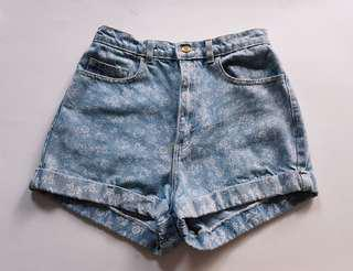 High Waisted Denim Shorts | American Apparel | Size 29