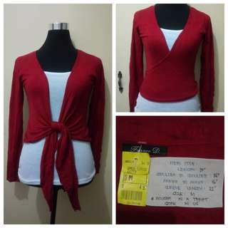WA871 Franco D Deep Red Cardigan - Mint Condition