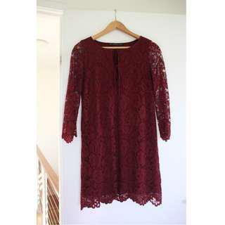 Zara Maroon Dress