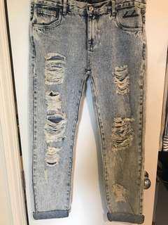 BAM BAM Boyfriend Jeans, Size 8