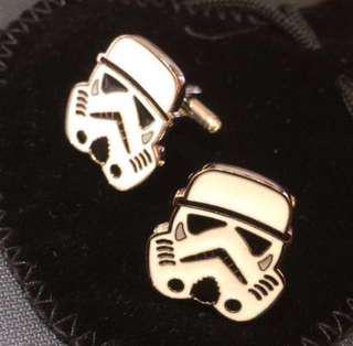 (全新) 星球大戰 複製人士兵 白兵 袖口鈕 袖口扣 袖扣 Star Wars Clone Trooper Cufflinks