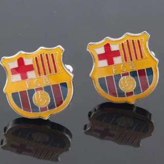 (全新) 巴塞 巴塞隆拿 巴塞羅那 袖口鈕 袖口扣 袖扣 FCB Football Club Barcelona Cufflinks 巴塞隆拿足球