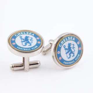 (全新) 車路士 車仔 足球 球會 袖口鈕 袖口扣 袖扣 CFB Chelsea FC Football Club Cufflinks