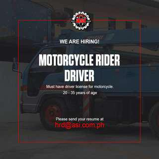 Company Driver / Motorcycle Delivery Man
