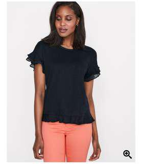 RW&CO Linen T-Shirt with Frills (xxs)