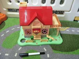 🚚 哈姆太郎度假樹屋有露台停車場無公仔絕版玩具無盒