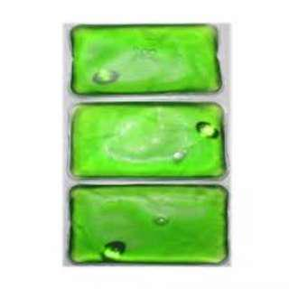 Keimav Rectangle Hot and Cold Compress Pack Set of 3 (Green)