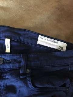 RAG AND BONE blue skinny stretch jeans