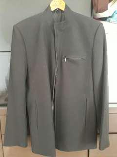 🚚 黑色立領西裝外套  #半價衣服市集