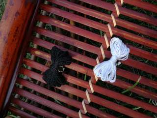 Set of Two Black and White Cotton Bow Hair Clips