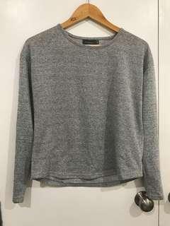 Grey Sleeved Top