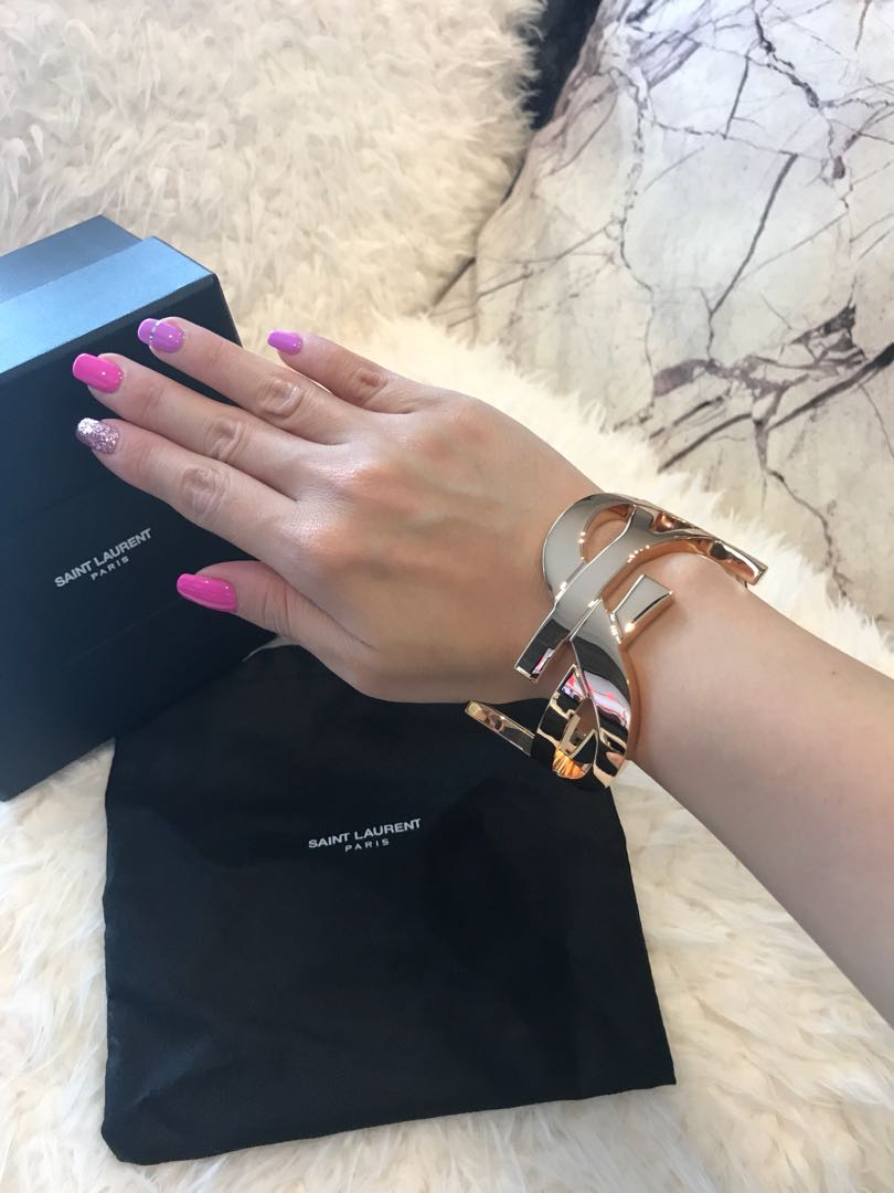 5fefbc9c419 100% Authentic brand new YSL Saint Laurent bangle in rose gold ...