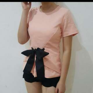 Top Bow Pink