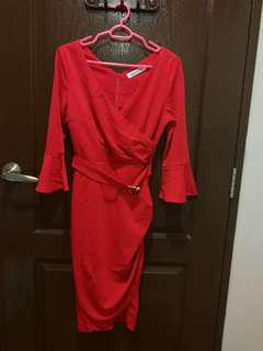 Glamourous red dress for work or date night