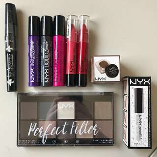 NYX BUNDLE- palette, lipsticks & more!!