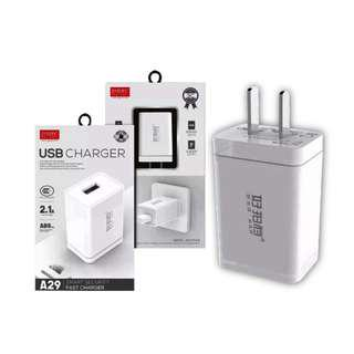 USB Charger A29 Smart Security Fast Charger
