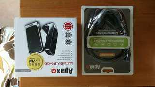Apax headphone + speajer