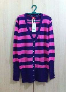BIG SALE!! Long Cardie Stripe