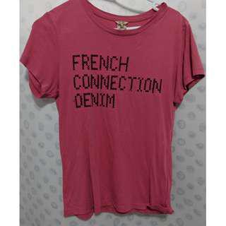 french connection denim tshirt XS