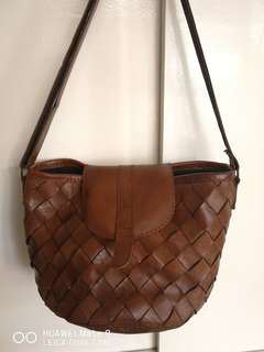 customized weave  leather bag