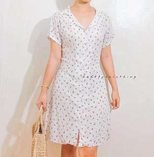 Alessandra Botton Down Dress