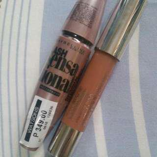 Make-Up Bundle: Maybelline Lash Sensational Waterproof (BNWT retails at P349) + Clinique Chubby Lipstick in Hazelnut (BN never used)