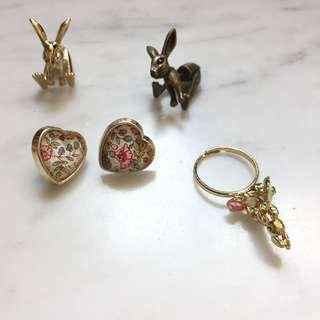 Bunny earrings 2 for1