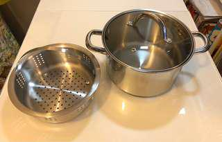 Steamer pot, Induction, Gas, Heat, 1 person. Stainless steel, 蒸爐、蒸鍋、萬用