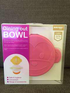 Brand new baby dining out suction bowl set