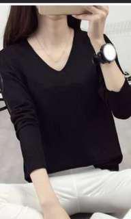 🚚 Black v neck knitted sweater
