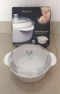 Round Casserole 2L with lid