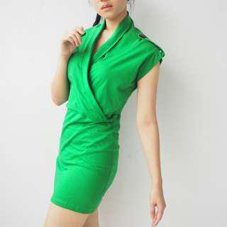 #merdeka73 BODYCON GREEN DRESS