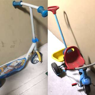 Kids scooter and stroller bike