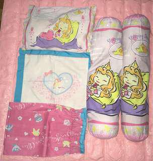BABY GIRL PRINCESS AURORA PILLOW SET