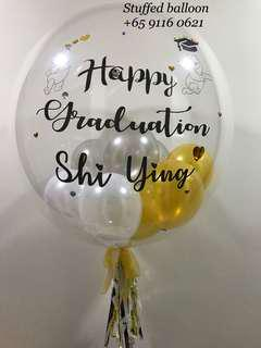 Customized balloon, personalized balloon, clear transparent wording balloon