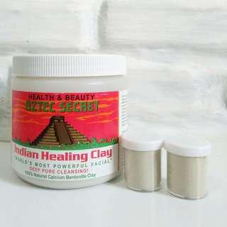 Aztec secret healing clay share in jar