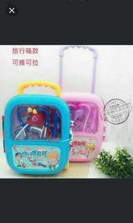 Children doctor medicine luggage toy