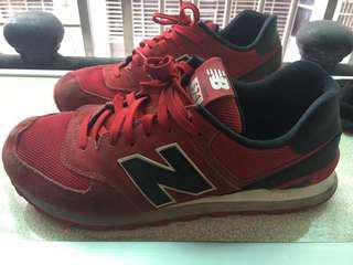 🚚 New balance 574 NB 紅黑 二手鞋