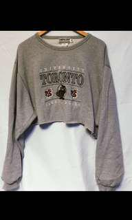 Vintage University of Toronto Cropped Sweater