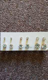 Womens cubic zirconia earrings