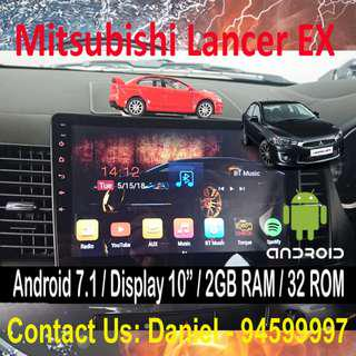 "Mitsubishi Lancer EX Android 7.1 OS Car Stereo 10"" Display Multimedia AV Receiver"