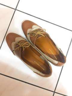 牛津雕花跟鞋