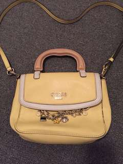 Guess yellow small cross body bag handbag
