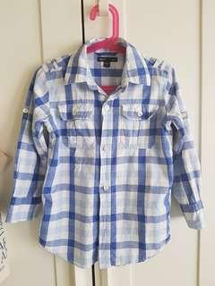 美國品牌GAP童裝九分袖襯衫